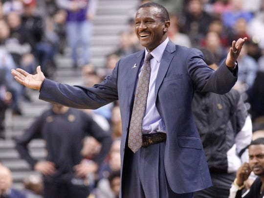 Mar 9, 2018; Toronto; Raptors coach Dwane Casey reacts to a play against the Rockets at the Air Canada Centre.