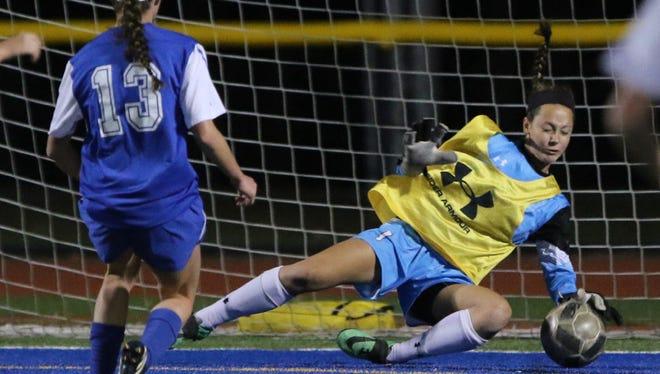 DePaul goalkeeper Rilee Keenan kept her team close with four saves against Paramus Catholic.