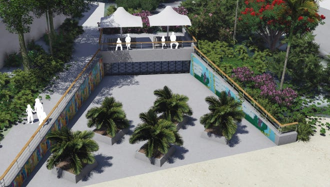 "This rendering shows a proposed ""culvert outlet structure"" that would be featured as a part of a project to mitigate flooding along Pale San Vitores Road in Tumon. The proposal would allow overflow at Fujita Pond to flow through a culvert along Fujita Road and flow out at the end of the road."