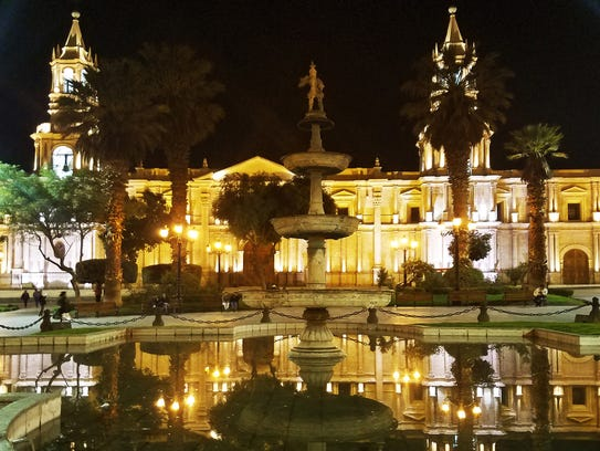 Basilica Cathedral of Arequipa, one of Peru's most