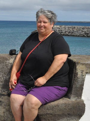 Patsy Casteen before her weight loss.