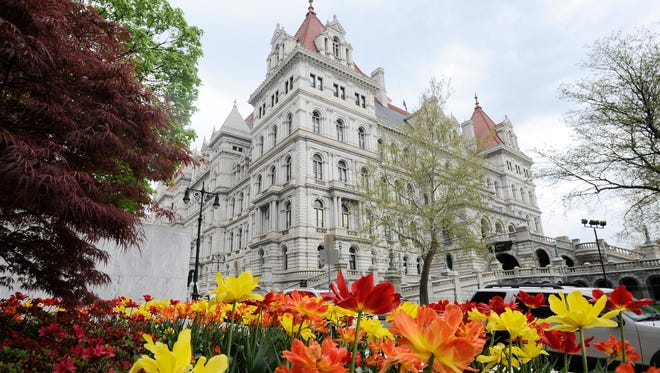 Exterior view of the at the New York state Capitol Tuesday, May 15, 2018, in Albany, N.Y.