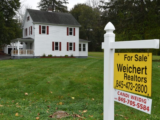 A view of a house for sale on Dutchess Turnpike in the Town of Poughkeepsie.
