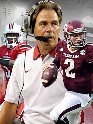 Texas A&M vs. Alabama is the most anticipated game of the year. Louisville also plays rival Kentucky on Saturday.