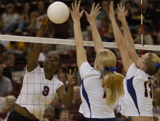 Former New Mexico State volleyball player Kim Oguh