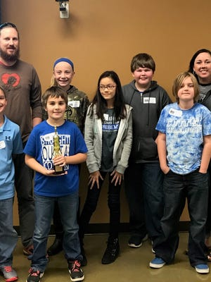 The team for Cotter's Amanda Gist Elementary School finished second at the Ozarks Unlimited Resources Educational Cooperative chess tournament on Nov. 7.
