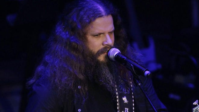 In this Sept. 19, 2011 file photo, Jamey Johnson performs during the Academy of Country Music Honors show in Nashville, Tenn.