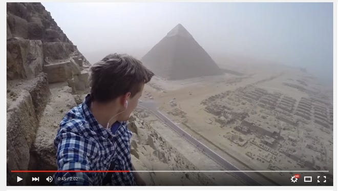 18-year-old Andrej Ciesielski says he completed an incredible, yet illegal, climb to the top of the Great Pyramid of Giza in broad daylight on Jan. 18.