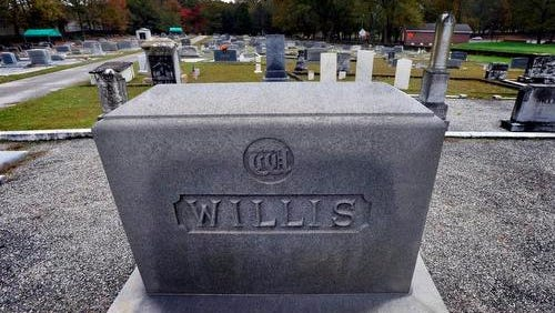 The Simpsonville Municipal Cemetery, pictured here at the grave site of Robert H. Willis, Jr., a Lt. Colonel in the Air Force, will receive a state historical marker Saturday.