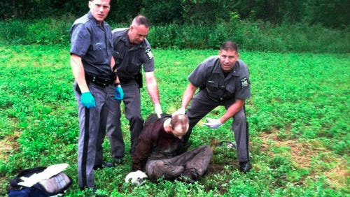 David Sweat after he was shot and captured near the Canadian border in Constable, N.Y. on June 28, 2015.