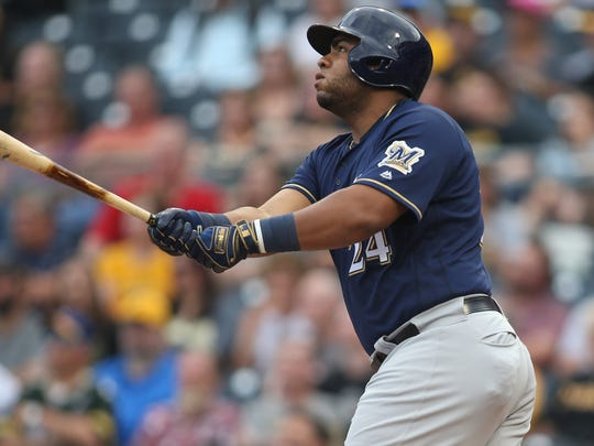 Jesus Aguilar has been the Brewers' most consistent offensive force with a .944 OPS.