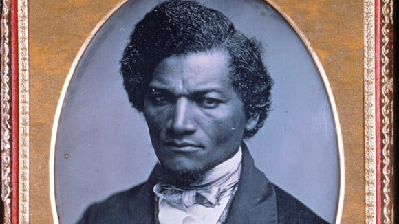 A Daguerreotype, taken by Samuel J. Miller between 1847 and 1852, of American abolitionist leader Frederick Douglass.