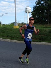 Chambersburg's Rodney Small competes in the Volvo Group Trucks 5K on Aug. 26. Small placed ninth overall with his time of 20:21.
