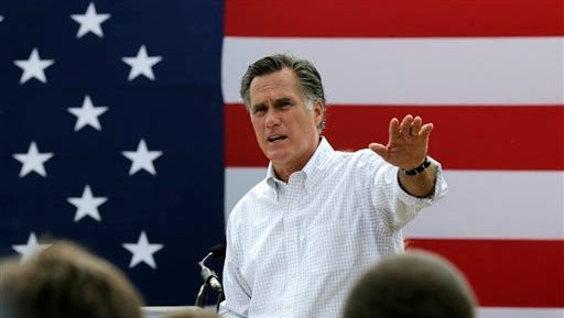 Mitt Romney, the former Republican presidential nominee and possible candidate for 2016, addresses a crowd of supporters  in  New Hampshire last July. He says both leaders in the Democrat and Republican parties are failing to address America's most pressing issues.