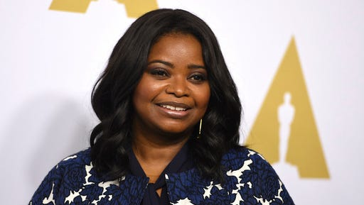 "FILE - This feb. 6, 2017 file photo shows Octavia Spencer at the 89th Academy Awards Nominees Luncheon in Beverly Hills, Calif.  Spencer is nominated for an Oscar for best supporting actress for her role in ""Hidden Figures."""