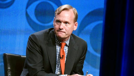 FILE - In this Aug. 10, 2015 file photo, Political Director for CBS News, John Dickerson, participates in the CBS News panel at the CBS Summer TCA Tour in Beverly Hills, Calif. CBS broadcast its morning show live from the White House Monday with no evident hard feelings following the abrupt ending of John Dickerson's previously-recorded interview with President Donald Trump. t contained a previously-taped interview with President Trump and John Dickerson that ended abruptly after Dickerson asked about Trump's accusation that predecessor Barack Obama has wiretapped him.