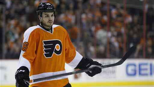 Zac Rinaldo was suspended four games Monday for his hit on Buffalo's Chad Ruhwedel.