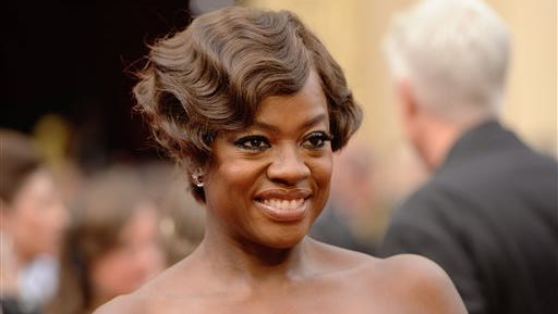 FILE - This March 2, 2014 file photo shows actress Viola Davis at the Oscars in Los Angeles.