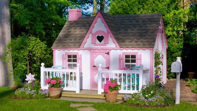 Little girls playhouse designed by Julie Kantrowitz of JK Interior Living, Ridgewood.