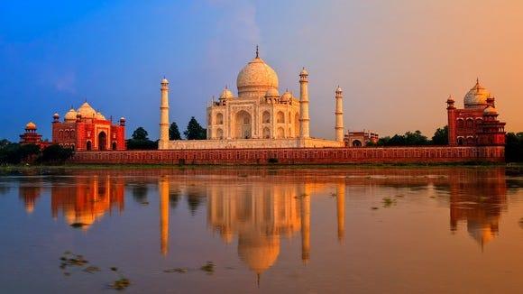Taj Mahal in India.
