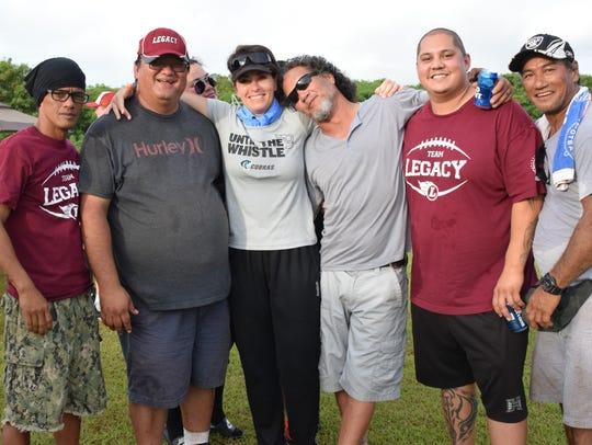 Legacy coaching staff with Cobras coach Tasha Chimene