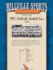 The 1954 Millville High School football team will be