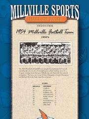 The 1954 Millville High School football team will be