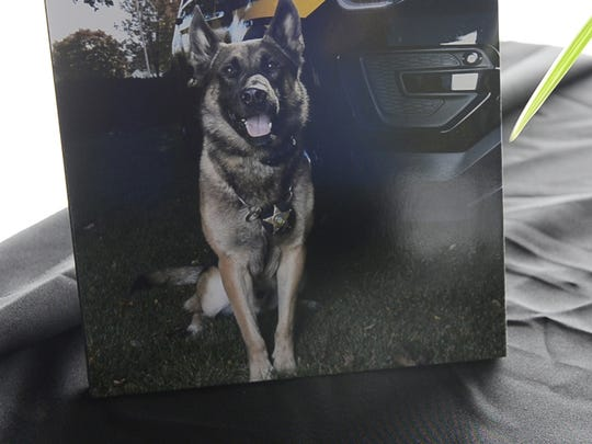 A memorial service was held for K9 Nero, the Ottawa County Sheriff's Office's 6-year-old Belgian Malinois, who died of B-cell lymphona after four years of serving with partner Deputy Marc Nye.