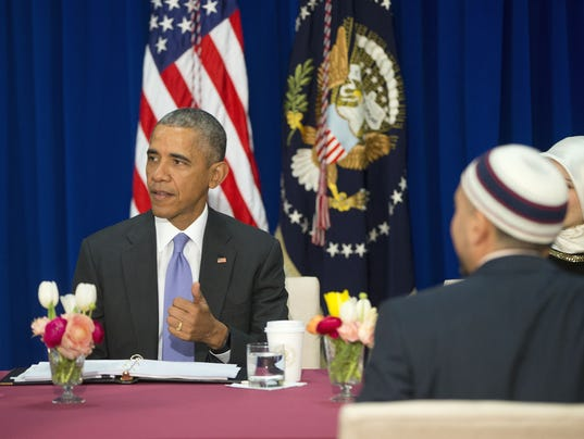AP OBAMA MOSQUE VISIT A USA MD