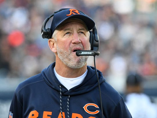 Chicago Bears head coach John Fox during the second