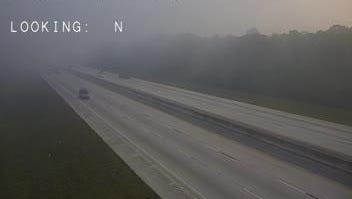 Traffic cameras capture lingering smoke just off of Interstate 95 near Cocoa
