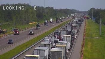 Some lanes remained blocked Wednesday morning on northbound Interstate 95 following a traffic crash south of Palm Bay.