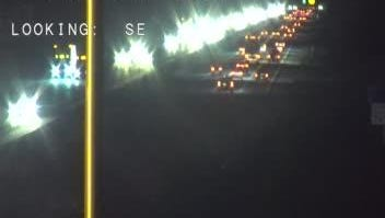 Traffic backed up on I-95 in Viera.