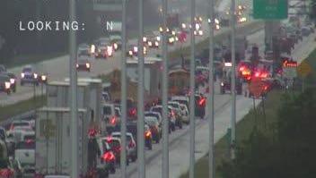 Crash on I-95 NB near Pineda backs up traffic to Lake Washington Rd.
