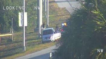 Crash reported on I95 near Eau Gallie Boulevard.
