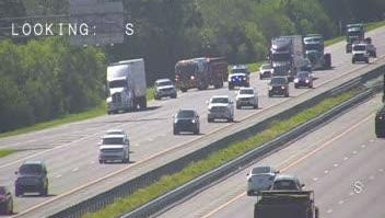A diesel leak was reported along Interstate 95 Thursday.