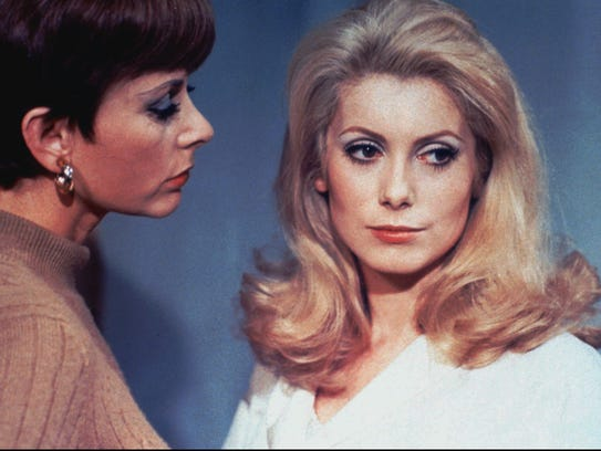 Genevieve Page (left) and Catherine Deneuve star in