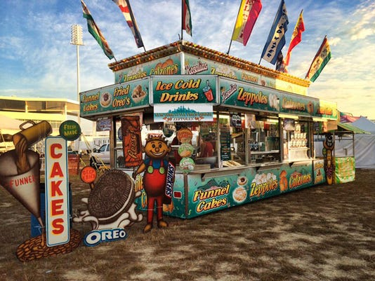 Carnival food stand