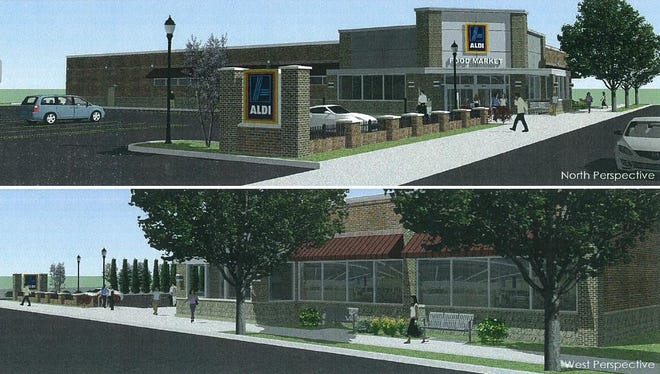 A rendering of the proposed Aldi supermarket at Winton and Blosson roads.