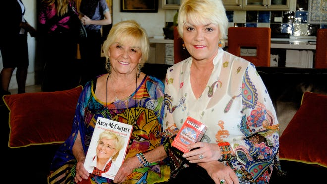 """Angie McCartney (left) and daughter Ruth pose during a recent promotional tour. Both will be in the desert Tuesday to attend a screening of """"Ethel & Ernest"""" at the Palm Springs International Film Festival."""