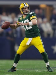 Aaron Rodgers' passer rating of 104.1 was his sixth-best mark in nine years as a starter.