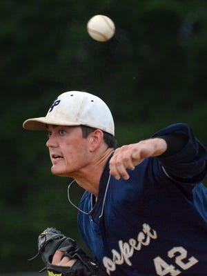 Dylan Stoops helped East Prospect clinch the Susquehanna League regular-season title on Saturday with a 5-0 victory over York Township. Stoops struck out 13 in a one-hit performance. YORK DISPATCH FILE PHOTO