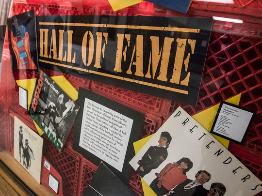 """""""London Calling"""" by The Clash, """"Rumours"""" by Fleetwood Mac and the debut album by The Pretenders are among the vinyl albums in this Hall of Fame showcase at the Vinyl Recall exhibt."""
