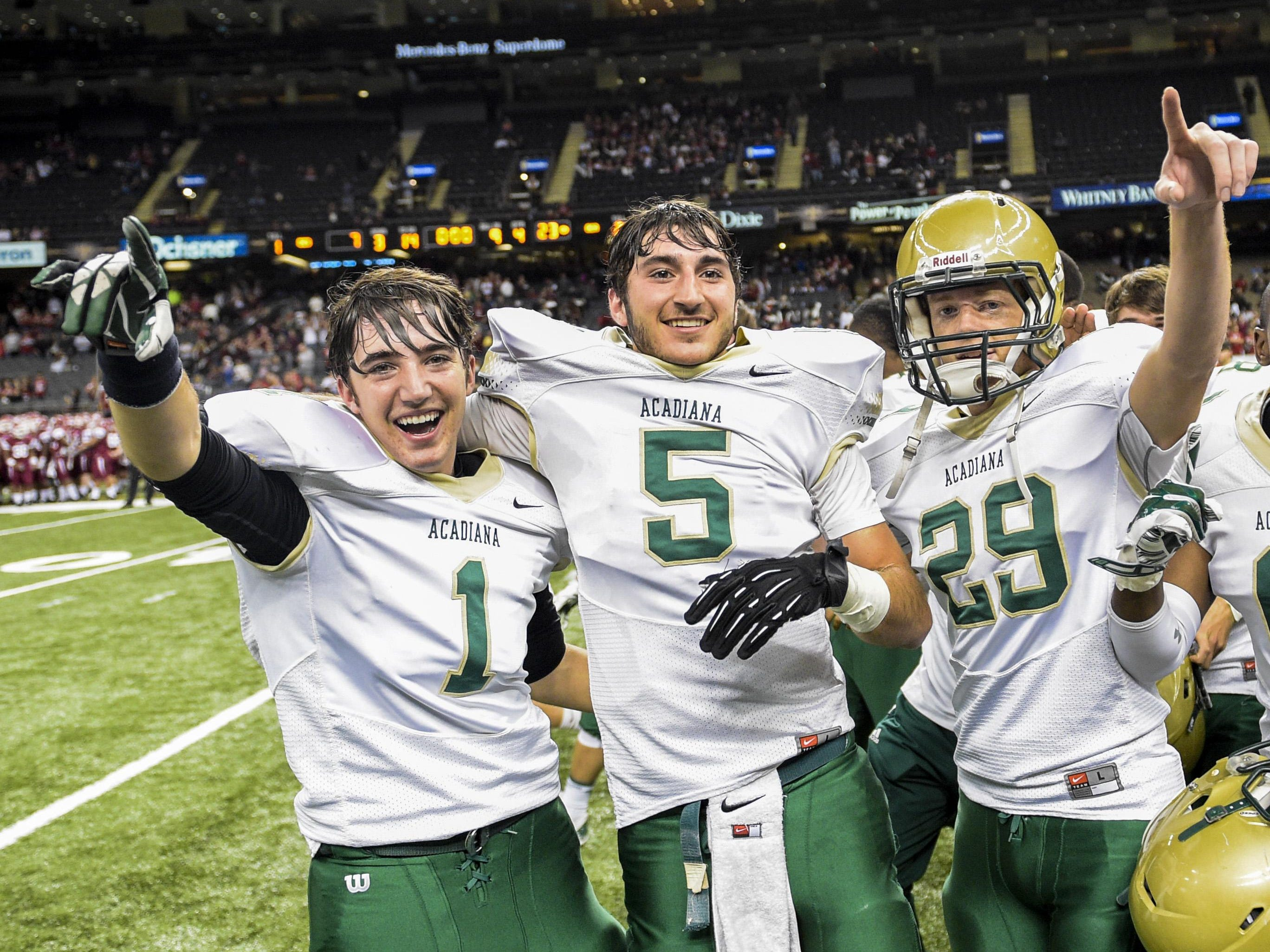 The Acadiana Wreckin' Rams won the program's second straight and fourth overall Class 5A state football championship in 2014. This fall, the Rams will be going for a threepeat.