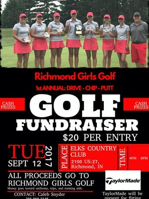 The inaugural Richmond girls golf fundraiser is Sept. 12 at the Richmond Elks.