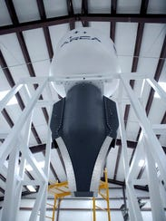 The ground test stand and aerospike engine for the