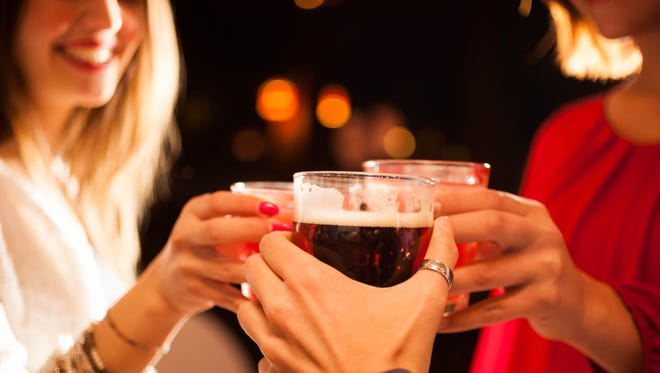 Experts explain moderate drinking as one drink per day for women and two drinks per day for men. Exceeding that puts you at risk for becoming an alcoholic.
