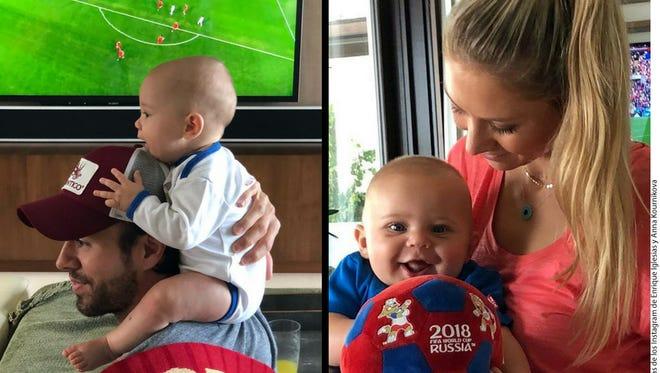 Enrique Iglesias reconoce que el mérito del cuidado de sus niños es de su pareja, Anna Kournikova, a quien llamó una superheroína.