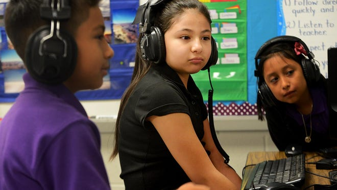 File photo of Thelma Barker Elementary School ESL students.