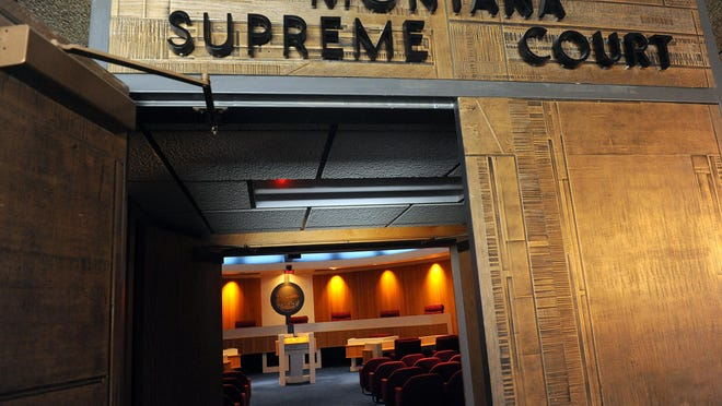 Open door to the Montana Supreme Court courtroom in Helena, August 14, 2012. TRIBUNE PHOTO/RION SANDERS